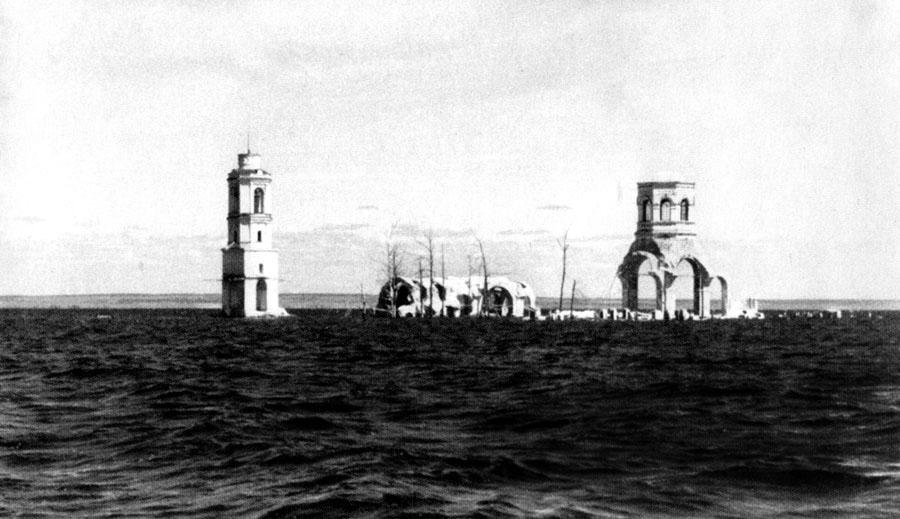 Затопленный Леушинский монастырь 1951г